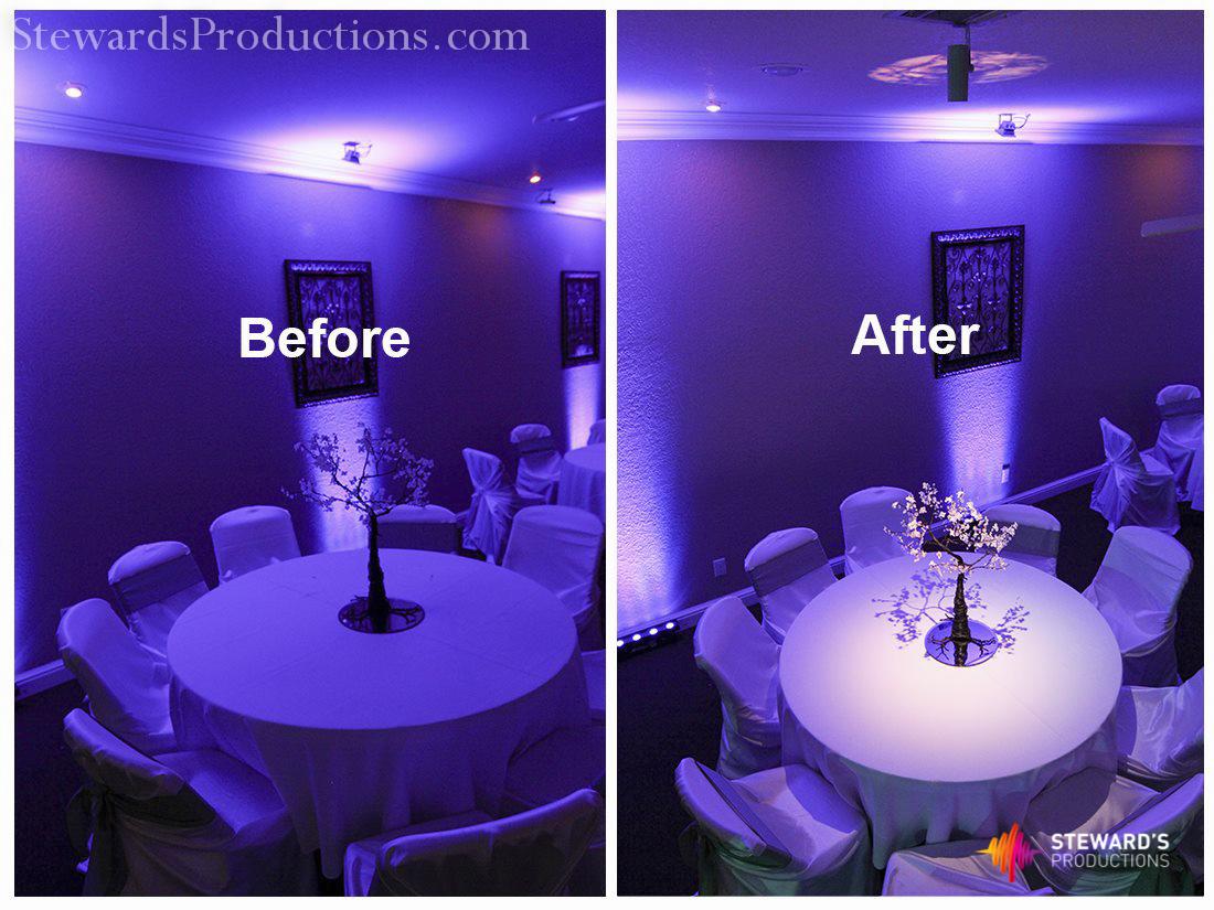 Pin Spot Lighting Dallas Wedding DJ Steward 39 S Productions Dallas DJ